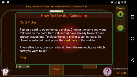 hold em odds calculator free android apps on play
