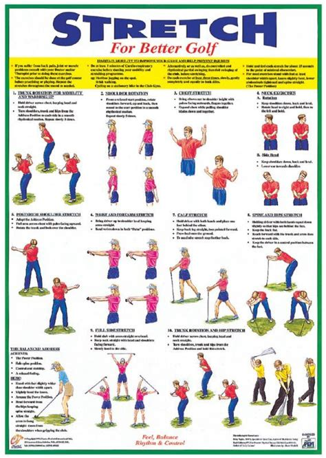 Golf Exercises And Stretches Warm Up Stretching Booklet