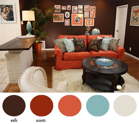 burnt orange and brown living room burnt orange wall accent colors home sweet home orange walls wall accents