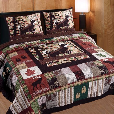 wildlife bedding bedding set 3 pc king cal quilt whitetail deer country