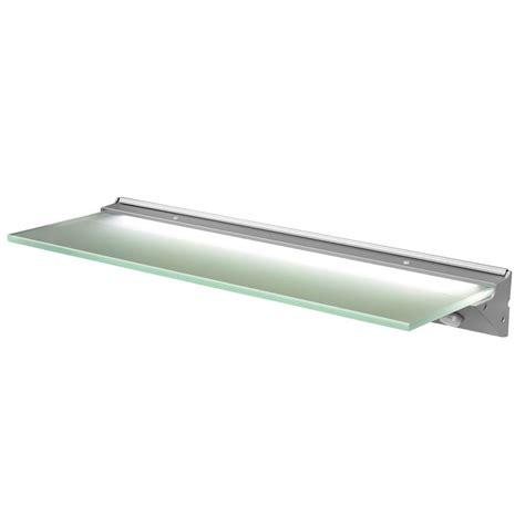 led glass shelf lighting florence ip44 led glass shelf light