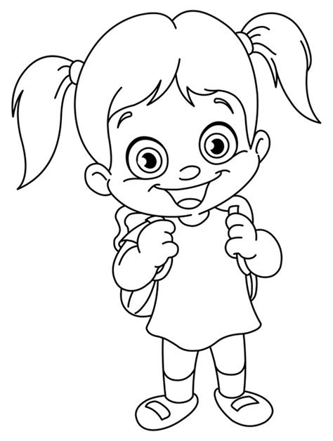 little girl cartoon coloring pages