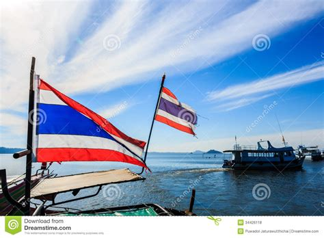 boat flags images thai flags on boat stock photo image of water ship