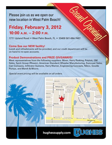 West Palm Plumbing Supply by Grand Opening For Hughes Supply In West Palm