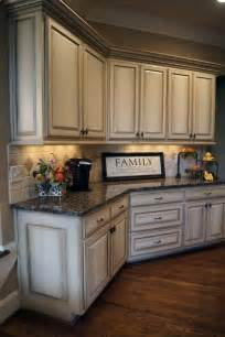 Antique Cabinets For Kitchen by Antique White Kitchen Cabinets After Glazing Jpg Home
