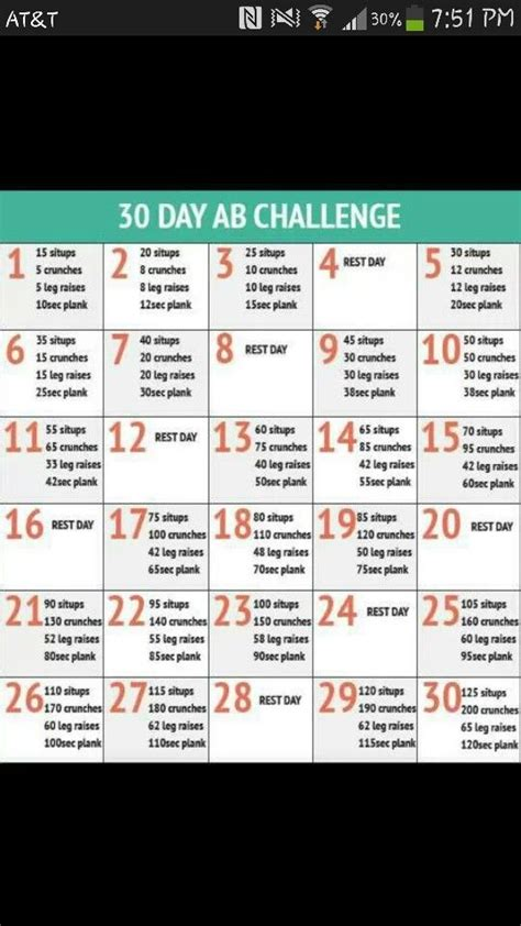 30 day ab challenge for guys 30 day ab challenge workout for a flat tummy warning