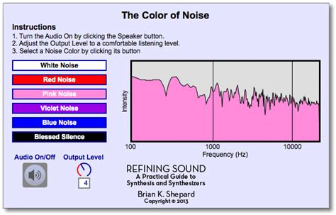 colors of noise refining sound chapter 2