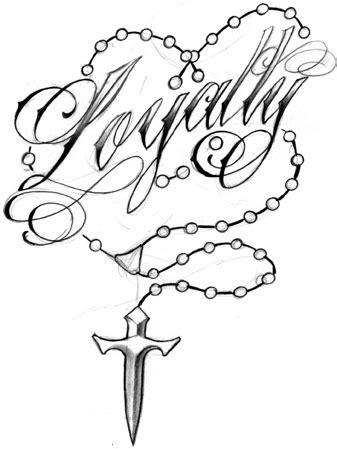 loyalty rosary beads tattoo design | loyalty rosary beads