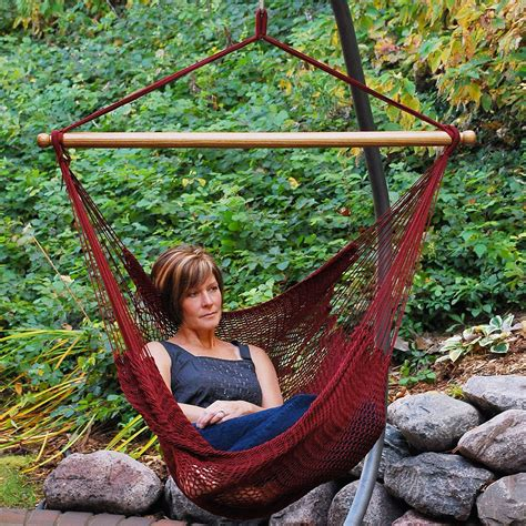 swinging hammock chair algoma hammocks 4913 hanging caribbean rope chair hammock