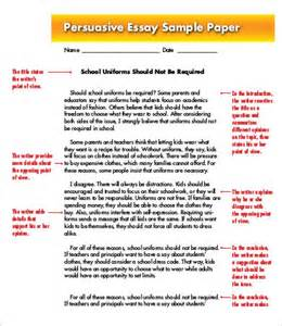 Exle Of Persuasive Essay Topics by Sle Persuasive Essays For Middle School
