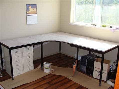 minimalist desk diy gl l shaped cover for how to build 20 diy desks that really work for your home office