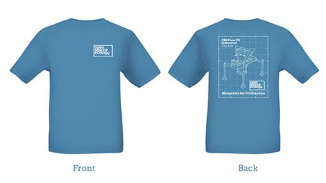 design t shirt front and back jean baptiste log 2014 open source ecology