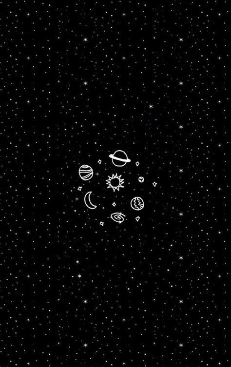 wallpaper hitam cute black glaxy planet stars wallpaper image 4003218 by