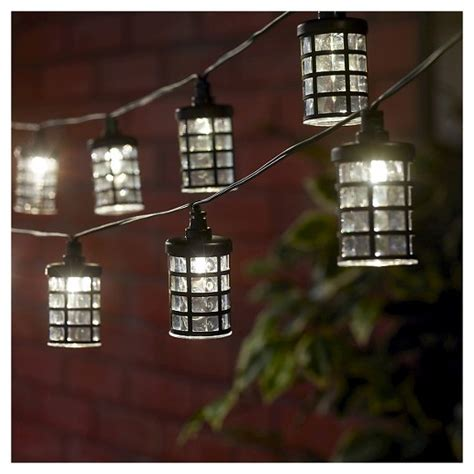Smart Solar String Light Amalia Black 20 White Leds Target Target Solar String Lights
