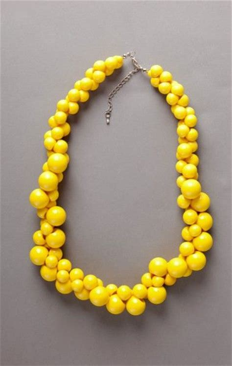 Yellow Neckles yellow necklace bead necklaces and yellow on