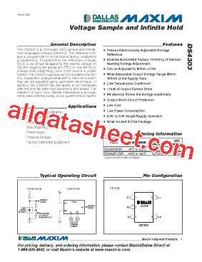 maxim integrated products acquisition ds4303 数据表 pdf maxim integrated products