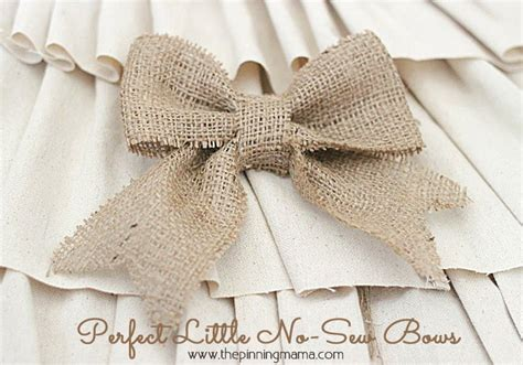 how to make burlap bows the pinning