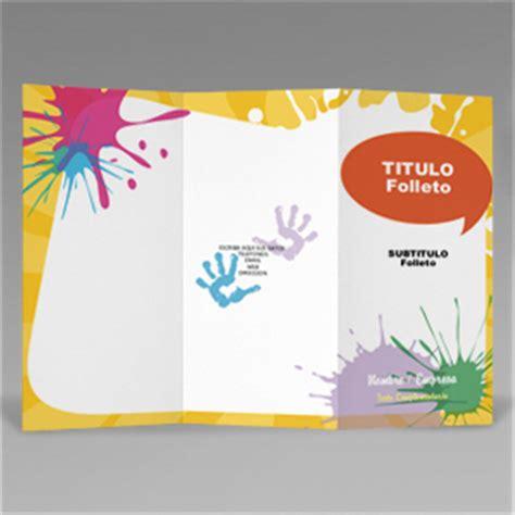Tripticos Y Presentaciones 5 tr 237 ptico educaci 243 n infantil
