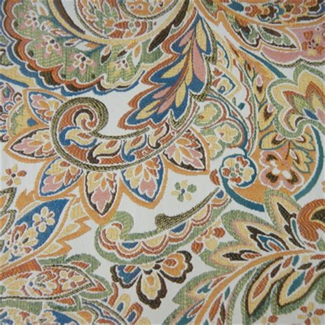 discount upholstery fabric by the yard hazara summer paisley upholstery fabric by swavelle