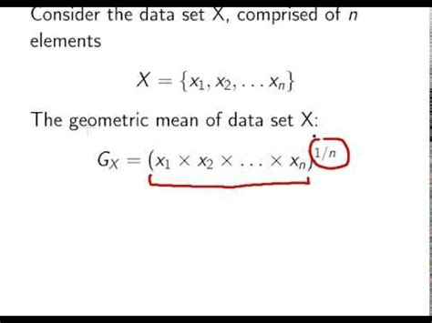 introduction to statistics : geometric mean youtube