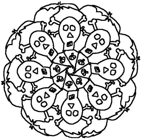coloring page halloween s mandalas 3