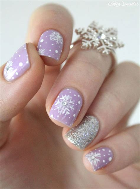snowflake pattern on nails 20 winter nail art designs ideas trends stickers 2015