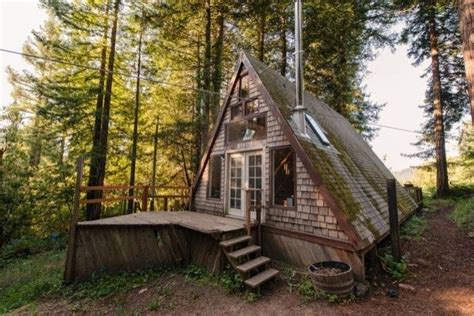small a frame cabins amazing tiny a frame cabin in the redwoods