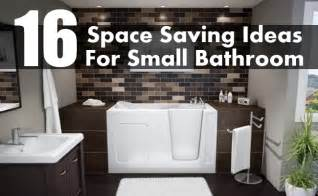 Bathroom Space Saving Ideas by 16 Brilliant Space Saving Ideas For Small Bathroom Diy