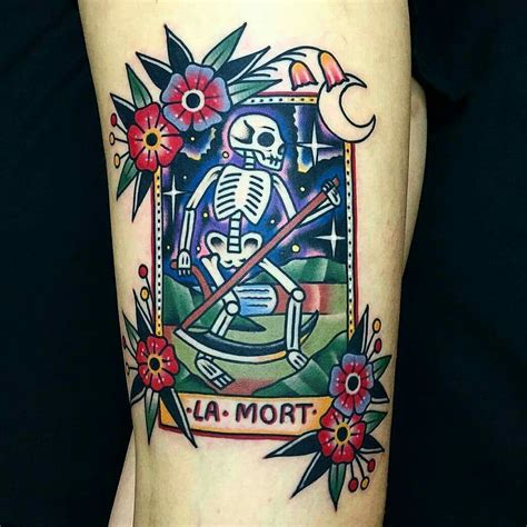 tarot card tattoo designs la muerte tarot card tattoos tarot