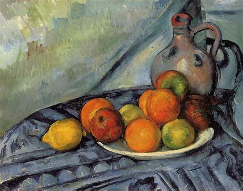 v駻anda cuisine fruit and jug on a table c 1894 paul cezanne wikiart org