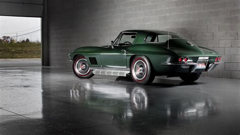 Wheels Classics 1965 Corvette Green your ridiculously cool 1967 corvette sting wallpaper is here