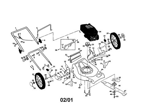 craftsman mower parts diagram lawn mower diagram and parts list for craftsman walk