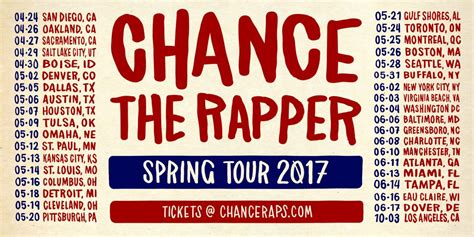 Chance The Rapper Announces Spring Tour 2017