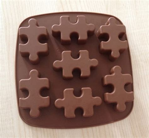 chocolate mold cake mould 7 puzzle jigsaw flexible silicone