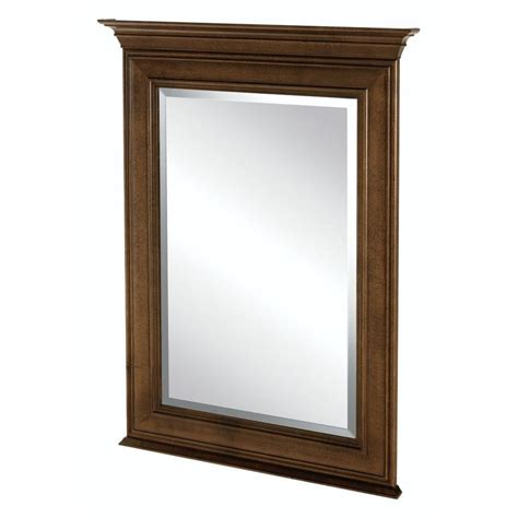home decorators mirror home decorators collection templin 34 in l x 25 in w framed vanity wall mirror in coffee