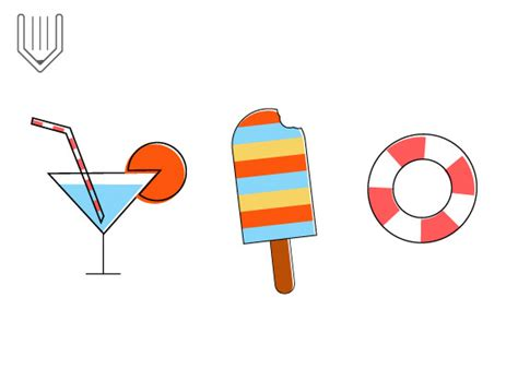 design icons in illustrator vitorials how to create stylish summer icons in adobe
