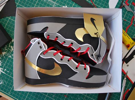 How To Make Shoes With Paper - david browning s papercraft nikes sidewalk hustle