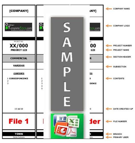 A4 Folder Label Template Word