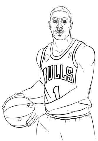 nba coloring pages of lebron james derrick rose the famous red bulls and nba athletes