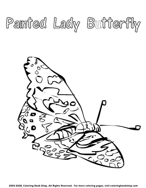 coloring page of painted lady butterfly painted lady butterfly printable coloring pages