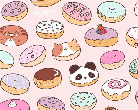 doodlebug donuts mmm donuts kawaii donut doodle print kirakiradoodles