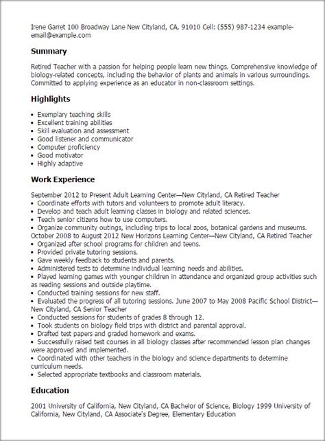 Resume Format After Retirement Professional Retired Templates To Showcase Your