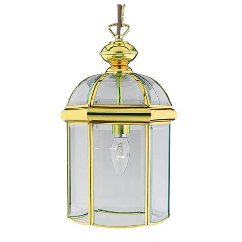 Ceiling Lantern Pendant Lighting Lantern In Solid Brass Gold Suspended On A Chain