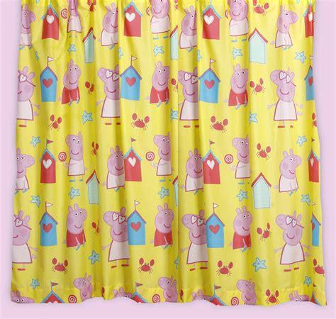 peppa pig tab top curtains peppa pig seaside curtains 66 quot x 54 quot or 66 quot x 72 quot drop