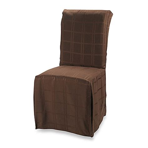 Microfiber Dining Room Chairs Origins Microfiber Dining Room Chair Cover In Chocolate