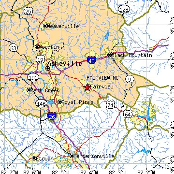 fairview, north carolina (nc) ~ population data, races