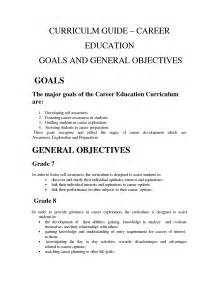 Sample Of Career Goals And Objectives Career Goal