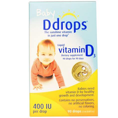 vitamin d supplement for infants d drops baby liquid vitamin d3 400 iu 0 08 fl oz 2 5