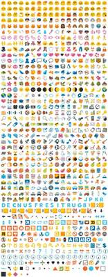 android emoticons list emoji list of all the emojis in hangouts and