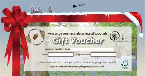 gift vouchers greenman bushcraft